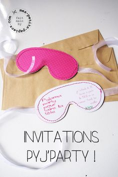 DIY invitation pyjama party