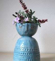 I'm obsessed with the little faces on Atelier Stella ceramics #ceramics #pottery #etsy #planters