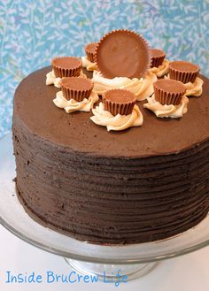 Peanut Butter Explosion Chocolate Cake - chocolate and peanut butter layers make this an impressive cake for any party