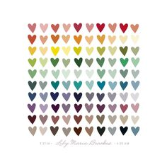 Paper Hearts Nursery Custom Art Print by InkDot | Minted - DIY with paint chips and heart hole-puncher