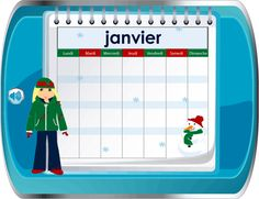 Learn about the calendar in French.  Several slides with audio.