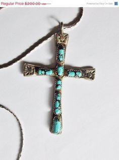 40% Off Vintage Pendant Cross Signed H.Iule by YoursOccasionally