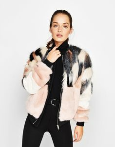 Faux fur bomber jacket. Discover this and many more items in Bershka with new products every week