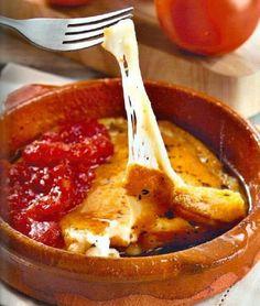 Varomeando: Tomate confitado con queso provolone