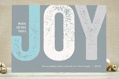 Joy Impressed Holiday Non-Photo Cards
