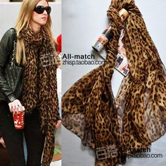 Aliexpress.com : Buy Free shipping Leopard pattern Chinese mulberry silk european style  female dual sun shading ultra long  scarf cape from Reliable voile scarf suppliers on CS. $37.00 - 49.00