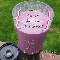 Berry Breakfast Smoothie Recipe - just 4 ingredients in the blender