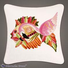 """Flamingo Fish Pillow 18"""" x 18"""""""