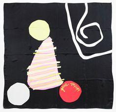 Gene Meyer printed silk scarf