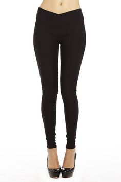 Creat your #ootd with this Slim Fit Stretchy Waist Black Jeggings. #FreeShipping #fashion