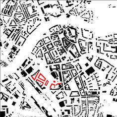 Prerov city, Czech Republic, prize in competition of urban design for revitalization of the territory near the railway station - schwarzplan Urban Design, My Design, Czech Republic, Competition, City, Cities, Bohemia