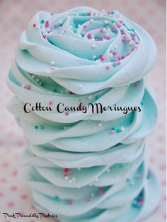 Cotton Candy Meringues. Dip in whipped cream - yum!
