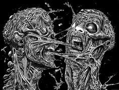 My One Metal Album Zombie Artwork....Kind of... - Zombie Art by Rob Sacchetto