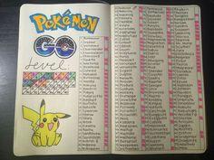 Pokémon Go collection spread idea