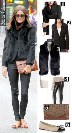 obsessed with black fur vest! Go with every thing!