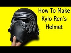 How to Make A Kylo Ren Mask from Junk: ScrapKins DIY Star Wars Recycled Art Projects for Kids - YouTube
