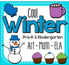 A cool Winter printable unit for pre-k and kindergarten, featuring math, art, and literacy concepts! Lots of printable worksheets. Great for January!