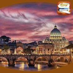 Rome - Italy ✨💖💖✨ Picture by ✨✨ Good night all 😘😘😘 Photography Tours, Landscape Photography, Amazing Photography, Tour Eiffel, Videos Mexico, Moving Clouds, Italy Pictures, Voyager Loin, Blog Voyage