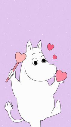 Moomins Moomin Wallpaper, Iphone Wallpaper Kawaii, Bear Wallpaper, Cute Anime Wallpaper, Cute Cartoon Wallpapers, Vintage Cartoons, Old Cartoons, We Bare Bears Wallpapers, Tove Jansson