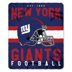 2bfd140b0cdf84 New York Giants Blanket 50x60 Fleece Singular Design #NewYorkGiants  Football Blanket, Football Fans,