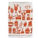 ink & peat : Succulents Tea Towel-Terracotta - l.0108