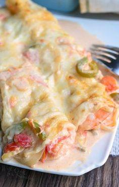 Spicy Shrimp Enchiladas - Delish.com