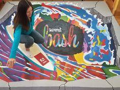 chalk artist and Professsional street painting Chalk Artist, Street Painting, Sidewalk Chalk, Street Artists, Murals, Digital Prints, 3d, Fingerprints, Wall Murals