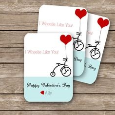 Personalized printable classroom Valentine's cards on Etsy. (We can never resist the corny pun this time of year.)