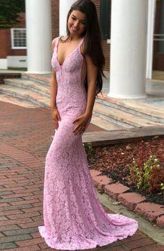 Mermaid Lace Prom Dresses Long, Prom Dress, Evening