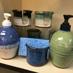 All new pottery soap dispensers from Mill Town Pottery! Soap Dispensers, Retail Shop, Pottery, It Is Finished, Instagram, Ceramica, Pottery Marks, Ceramic Pottery, Pots