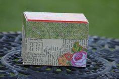 Decoupaged recipe box