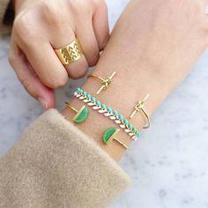 Juno Duo Gold Bracelet - Majolie - 1
