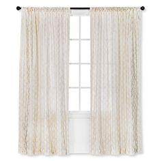 "Threshold™ Metallic Printed Broken Vine Curtain Panel - Cream (54x84"") : Target"