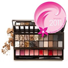 I am the kind of girl that has to get the most bang for my buck.  This palette costs $14.99 at Ulta.  It has 20 neutral eyeshadows and 10 vibrant lip colors....twice the product for than half the cost of the Naked palettes (no offense Urban Decay).  Trust me, try this one; it isn't just a bargain - it's a really smart buy.  And with a mirror and and applicators - it's truly portable...another great buy from Nyx...one of my new favorite, affordable makeup brands.