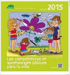 """El """"Calendario 2015"""", de la Confederación Española de Asociaciones de Padres y Madres de Alumnos, es un interesante calendario escolar y familiar, ya que promueve, en los días de cada mes, el desarrollo de actividades en el seno de la familia para la adquisición de aprendizajes básicos para la vida. Esperamos ya la publicación del Calendario 2016."""