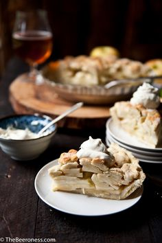 Apple Pie with Pale Ale Mascarpone Cream and Beer Pie Dough