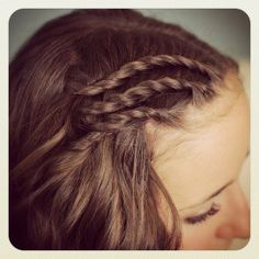 Triple Lace Side Twists and Bonus Video by Twins - Cute Girls Hairstyles Easy Lazy Hairstyles, Valentine's Day Hairstyles, Cute Everyday Hairstyles, Sweet Hairstyles, 5 Minute Hairstyles, Cute Girls Hairstyles, Trending Hairstyles, Different Hairstyles, Braided Hairstyles