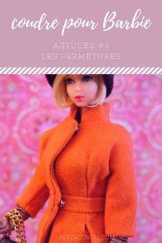 Astuces pour coudre des vêtements de poupées mannequins (comme les Barbie) – #4 les fermetures | astuce | Blog de Petit Citron Diy Barbie Clothes, Barbie Clothes Patterns, Doll Patterns, Clothing Patterns, Barbie Style, Barbie Et Ken, Barbie Dolls, Pop, Outfits