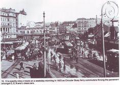 Circular Quay, Sydney in 1923