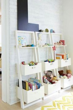 Toy organization ideas. I feel like this is a constant battle! I like these bookshelves as an option! #playroom  #playroomideas #bookshelf #mamaofdrama