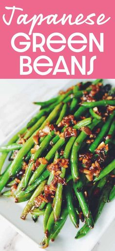 Soy Sauce Green Beans, Asian Green Beans, Crispy Green Beans, Japanese Side Dish, Japanese Dishes, Japanese Recipes, Japanese Green Beans Recipe, Japanese Food, Vegetable Side Dishes