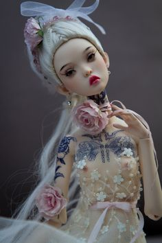 Artist doll by Popovy sis - White dress