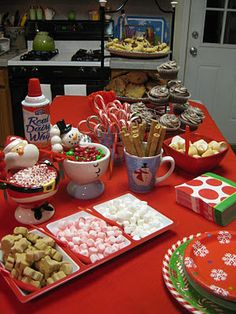 Hot Chocolate Bar for Polar Express Party