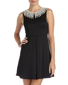 Waffle-Knit Cutout-Back Dress, Black by Free People at Last Call by Neiman Marcus.