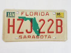 Florida+State+Map+Sarasota+County+License+Plate