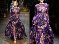 #MFW Dolce&Gabbana incredible dress!