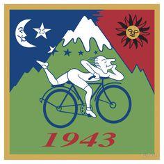 Hofmann Bike ride LSD Blotter Art Psychedelic Tee