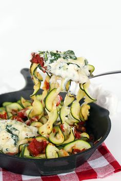 """Deconstructed Manicotti """"Skillet"""" with Zucchini Noodles- Inspiralized.com"""