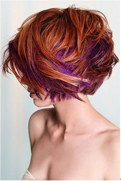 If I could pull this off, I'd do it in a heartbeat >> Messy Short Cut with Purple Hints.......Hot mid length layered cut BEST ON  Medium texture hair