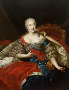 Joanna Elisabeth of Holstein-Gottorp. Lived Wife of Christian August, Prince of Anhalt-Zerbst, mother of Joanna Elisabeth of Holstein-Gottorp (Catherine the Great.) Romanov-in-law. Catalina La Grande, Order Of The Garter, Sainte Catherine, Oil On Canvas, Canvas Prints, Catherine The Great, Hermitage Museum, Thing 1, Portraits